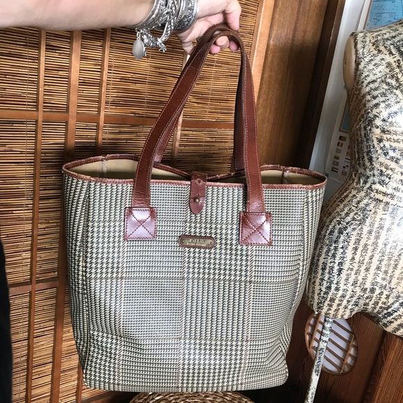Polo by Ralph Lauren Bags   Vintage Polo Ralph Lauren Houndstooth ... 14c81ae2ca